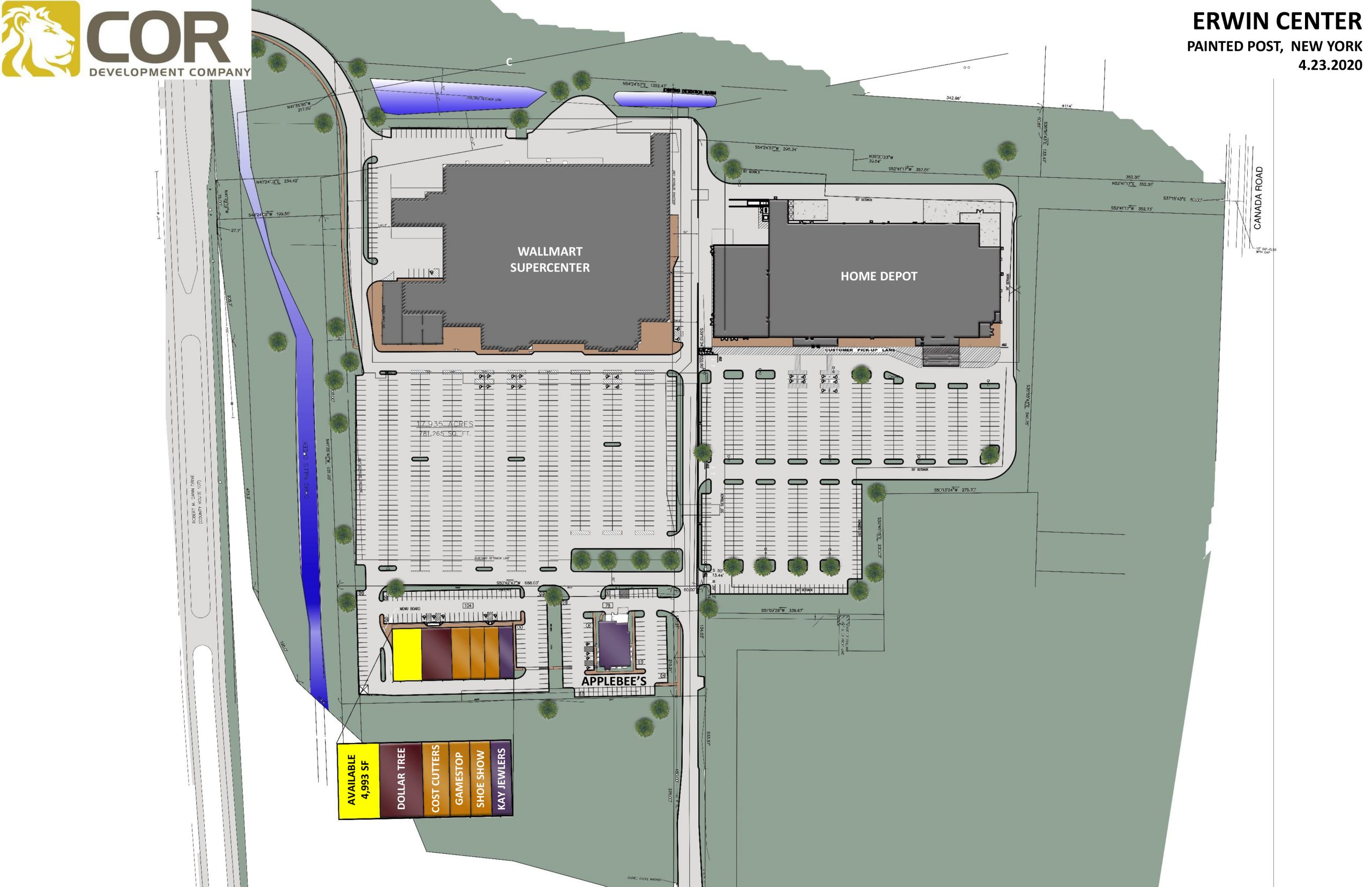 Erwin Center Master Site Plan scaled - Erwin Center – Painted Post, NY