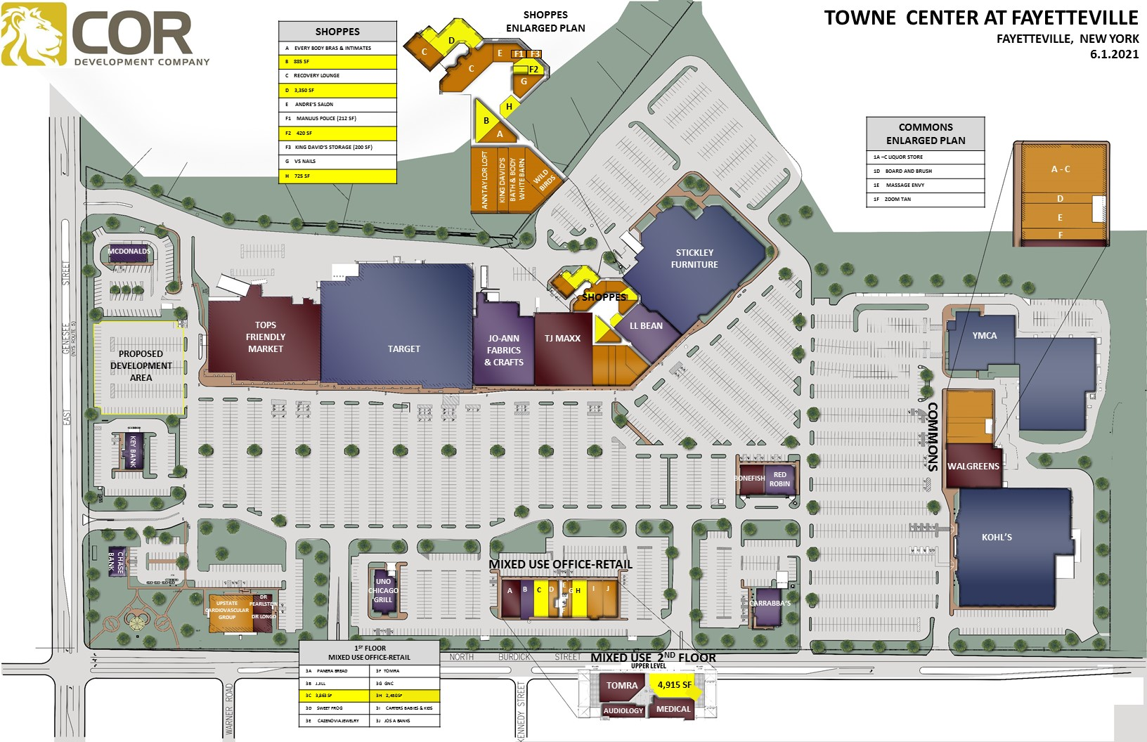 MASTER SITE PLAN Fayetteville 2021.06.01 - Towne Center at Fayetteville – Fayetteville, NY