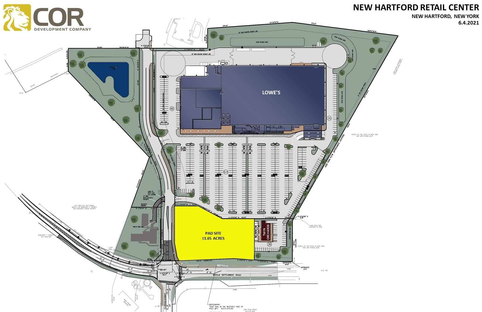 NEW HARTFORD RETAIL CENTER MASTER SITE PLAN - New Hartford Retail Center – New Hartford, NY