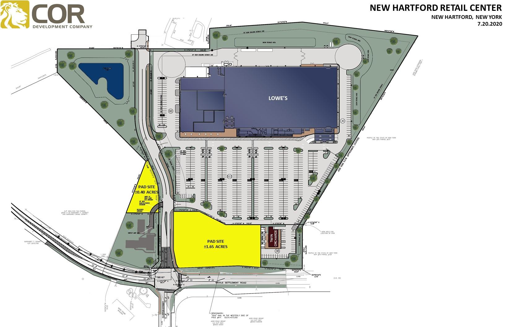 NEW HARTFORD RETAIL CENTER SITE PLAN - New Hartford Retail Center – New Hartford, NY