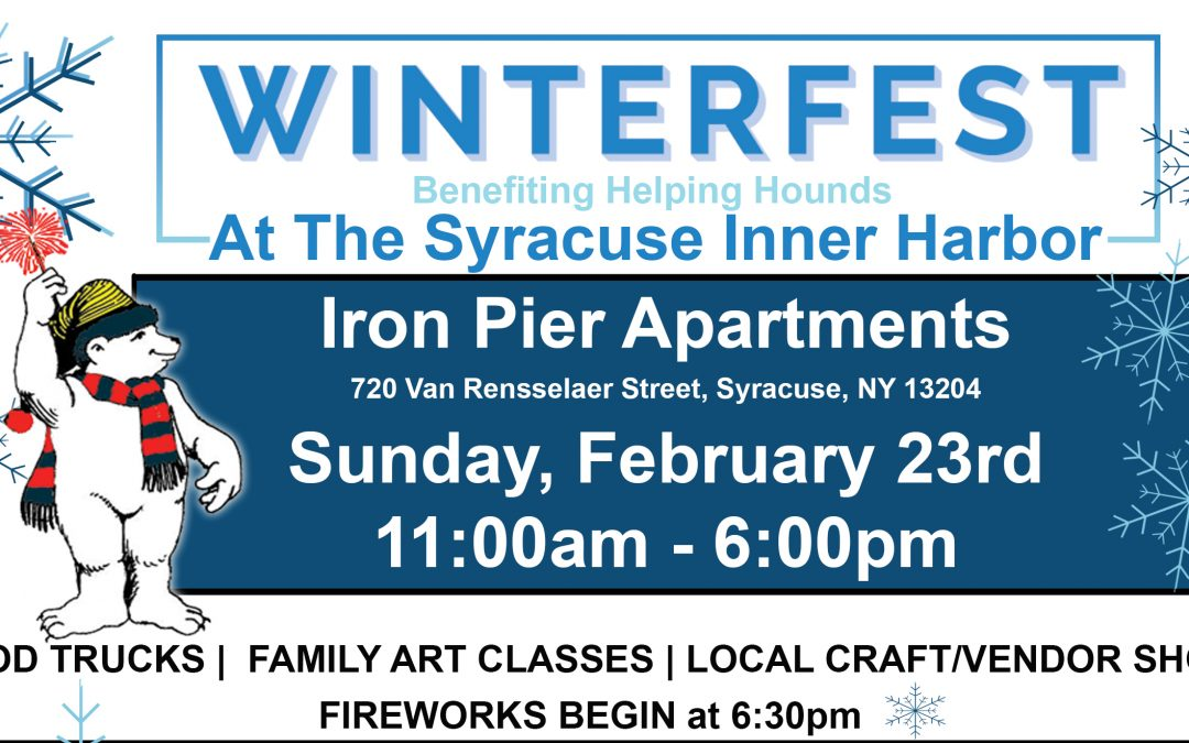 COR DEVELOPMENT TO HOST WINTERFEST AT THE SYRACUSE INNER HARBOR – EVENT TO BENEFIT HELPING HOUNDS DOG RESCUE